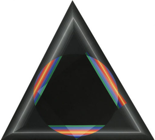 Horacio GARCÍA ROSSI - Gemälde - Couleur lumière Triangle