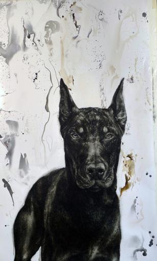 Juan PERDIGUERO - Pintura - DOBERMAN