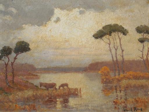 Paul RUE - Pittura - Etang de la BRENNE en BERRY