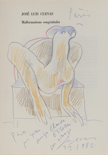 José Luis CUEVAS - Dibujo Acuarela - Argile