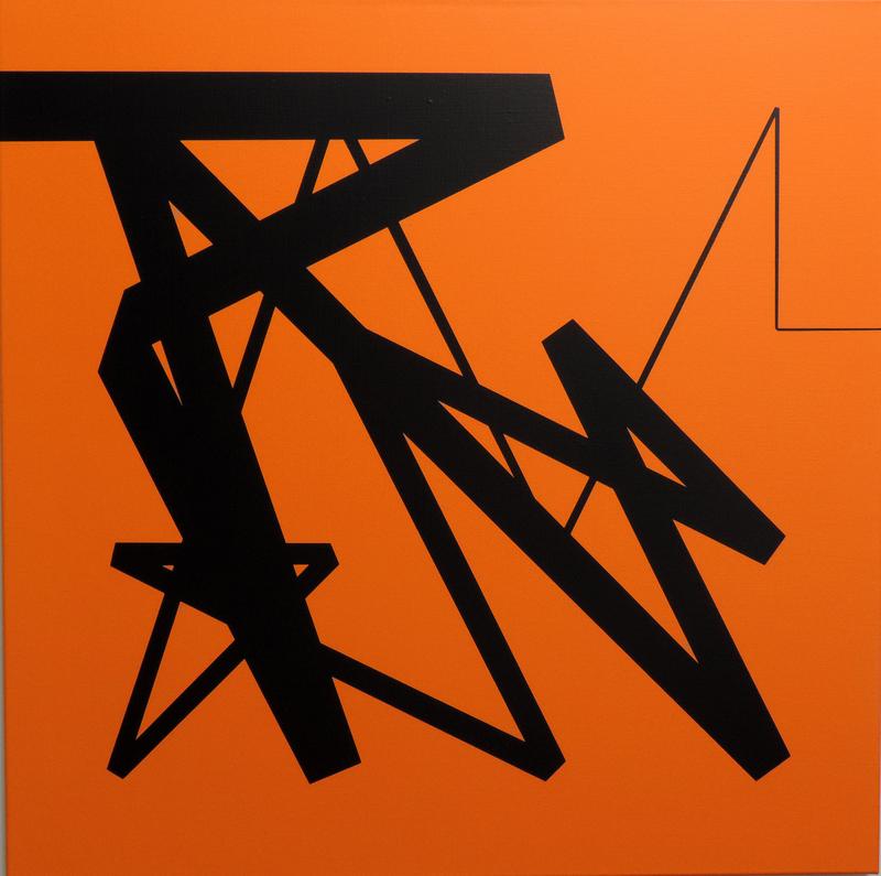Véra MOLNAR - Gemälde - Carré magique à la bande pliée A