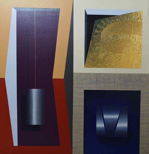 Arturo CARRIÓN - Pintura - Códices dorados II