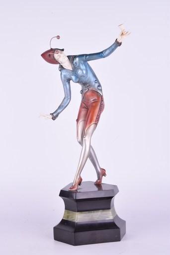 Johann Philipp PREISS - Escultura - Moth Girl