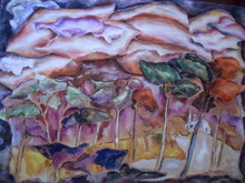 Jean-Marc GAYRAUD - Painting - Pins des Landes, France