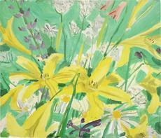 亚历克斯·卡茨 - 绘画 - Study for Ada with Flowers
