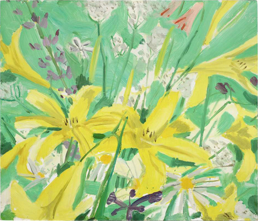 Alex KATZ - Pintura - Study for Ada with Flowers
