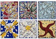 Salvador DALI (1904-1989) - Serie de 6 azulejos de Salvador Dali