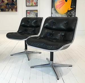 Charles POLLOCK Paire de fauteuils modèle Executive Chair dits ...