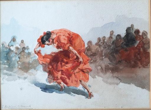 Francisco RODRÍGUEZ CLEMENT - Zeichnung Aquarell - Zambra