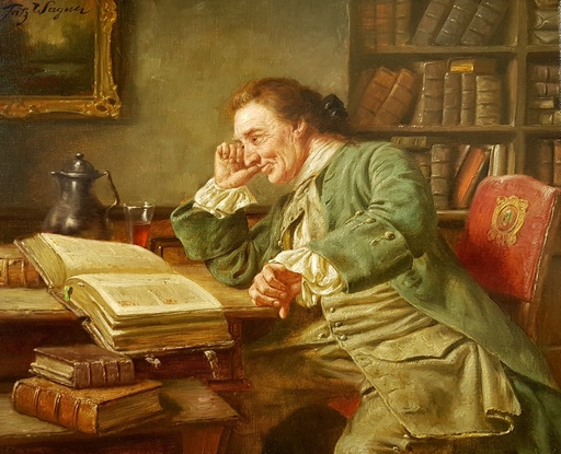 Fritz WAGENER - Pintura - In the Library