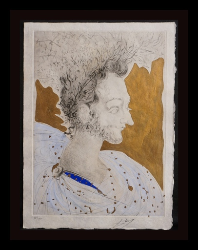萨尔瓦多·达利 - 版画 - Les Amours de Cassandre Portrait de Ronsard