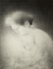 Charles ANGRAND - Drawing-Watercolor - Maternité
