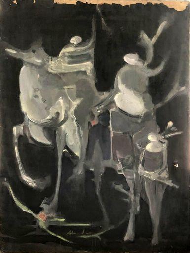 Alfred ABERDAM - Pittura - Engels