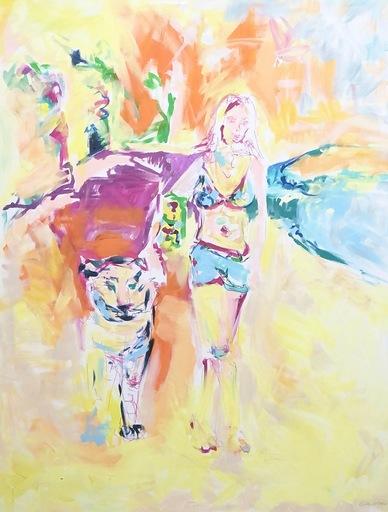 Nicole LEIDENFROST - Gemälde - Strandspaziergang