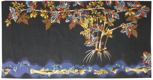 Jean LURÇAT - Tapestry - la chouette et l'étang