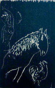 Marc CHAGALL - Grabado - The Rider and the Rooster | L'écuyère et le coq