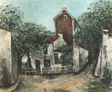 Maurice UTRILLO - Painting - Le Lapin Agile à Montmartre