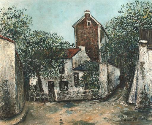 Maurice UTRILLO - Pintura - Le Lapin Agile à Montmartre