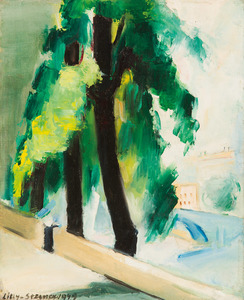 Lilly STEINER - Painting - Quai in Paris