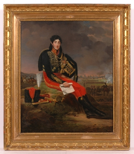 "Adèle ROMANY - Painting - ""Marshall Augereau"", 1809, Oil Painting"