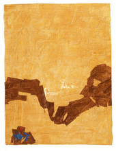 "Francis BOTT - Print-Multiple - ""Komposition in Gelb"""