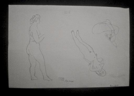 Jules PASCIN - Disegno Acquarello - Modèles