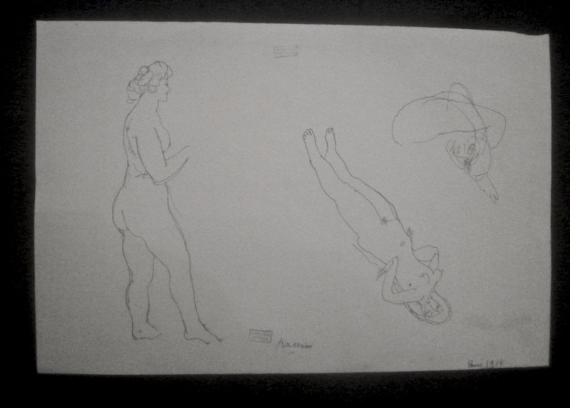 Jules PASCIN - Dibujo Acuarela - Modèles