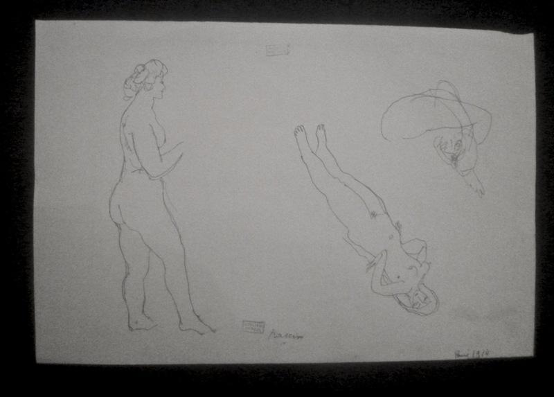 Jules PASCIN - Drawing-Watercolor - Modèles