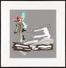 罗伊•利希滕斯坦 - 版画 - Brushstroke on Canvas