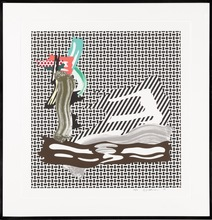 Roy LICHTENSTEIN - Print-Multiple - Brushstroke on Canvas