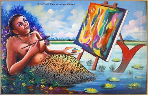 SHULA - Peinture - Quand une sirène se met au pinceau