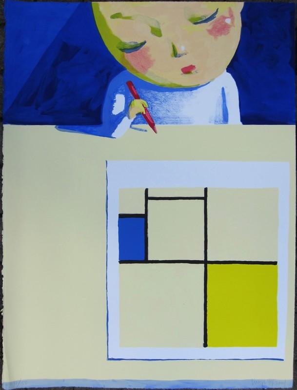 LIU Ye - Estampe-Multiple - She and Mondrian