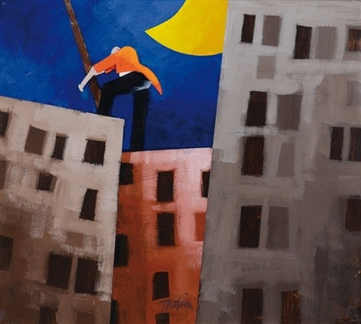 Emilio TADINI - Pintura - OLTREMARE