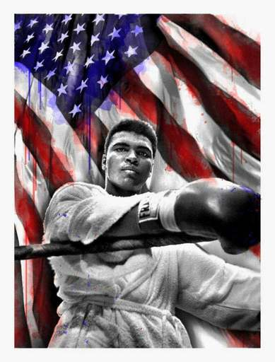 MR BRAINWASH - Druckgrafik-Multiple - American Hero (Ali)