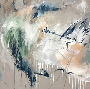 Jutta Rika BRESSEM - Painting - Gedankensplitter VI