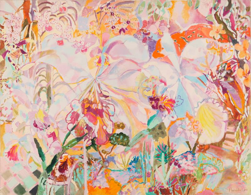 Claude MARECHAL - Painting - Jardin tropical