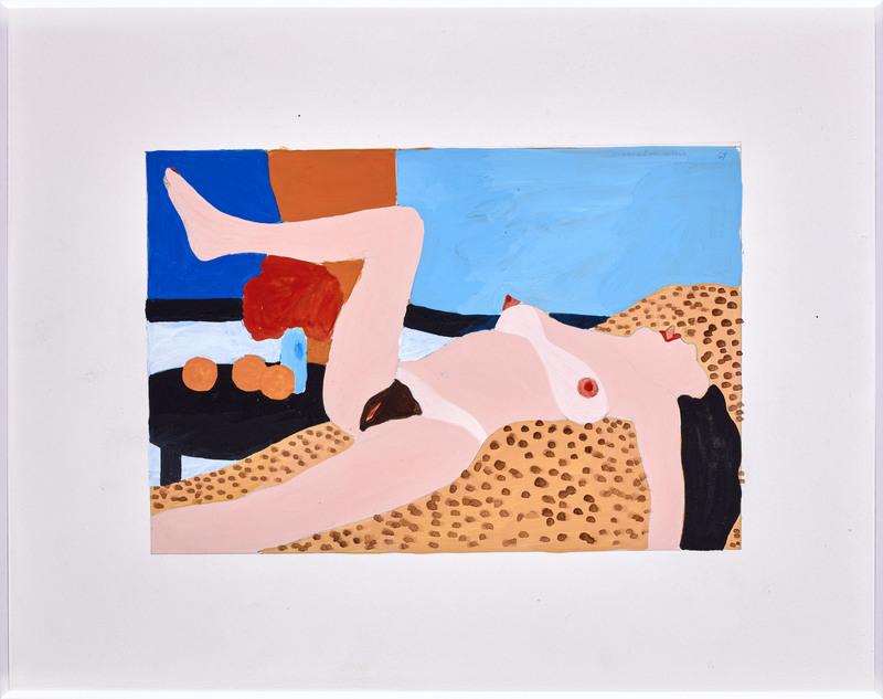 Tom WESSELMANN - Dibujo Acuarela - Study for Great American Nude #93