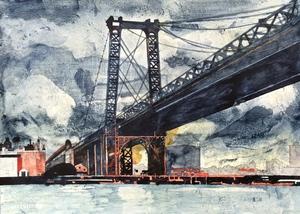 Jorge CASTILLO - Painting - Puente y tormenta
