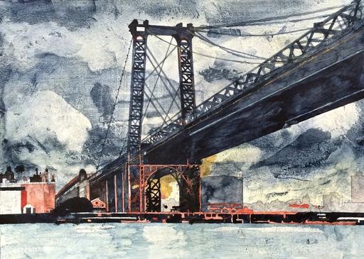 Jorge CASTILLO - Pittura - Puente y tormenta
