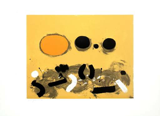 Adolph GOTTLIEB - Stampa-Multiplo - Orange oval