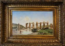 Victor Pierre HUGUET - Pintura - The Roman acqueduct, Cherchell, Algeria