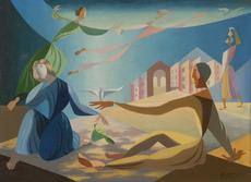 Léopold SURVAGE - Pintura - La Colombe