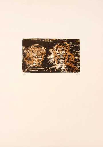 Henry MOORE - Druckgrafik-Multiple - Two Heads