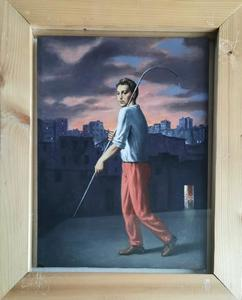 Stefano DI STASIO - Painting - CAMMINO SOLITARIO