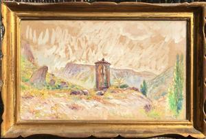 Edouard FER - 水彩作品 - paysage D'annot