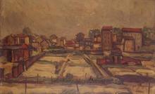Michel ADLEN - Pittura - Landscape in Saint-Denis
