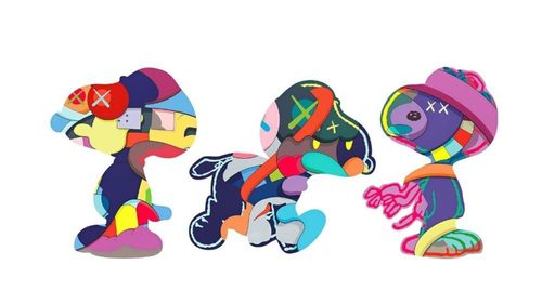 KAWS - Estampe-Multiple - Snoopies set