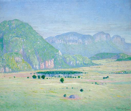 Domingo RAMOS Y ENRÍQUEZ - Pintura - Paisaje con Mogotes (Landscape with Hills)