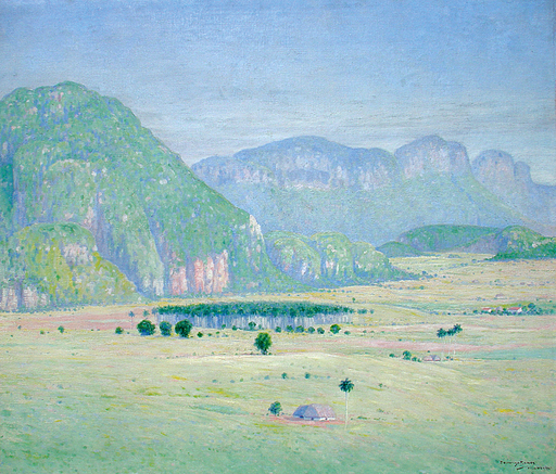 Domingo RAMOS Y ENRÍQUEZ - Peinture - Paisaje con Mogotes (Landscape with Hills)