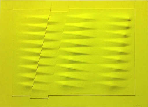 Agostino BONALUMI - Peinture - Giallo